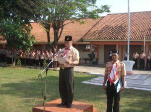 Sambutan Karda: Camat Cepiring dalam Upacara Hari Pramuka ke-53